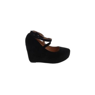 Mila Lady - Mila Lady Wedges: Black Solid Shoes - Size 8