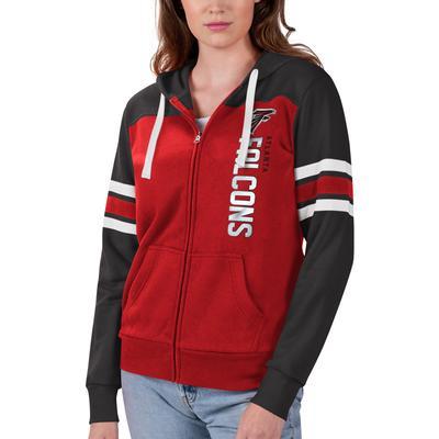 Women's G-III Sports by Carl Banks Red/Black Atlanta Falcons Full-Zip Hoodie