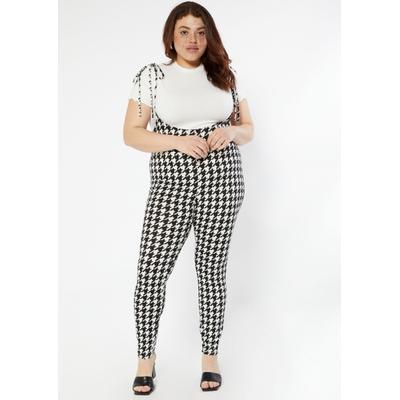 Rue21 Womens Plus Size Black Plaid Pinafore Jumpsuit 2-Piece Set - Size 4X