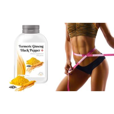 Turmeric Ginseng and Black Pepper Supplement Capsules: 120