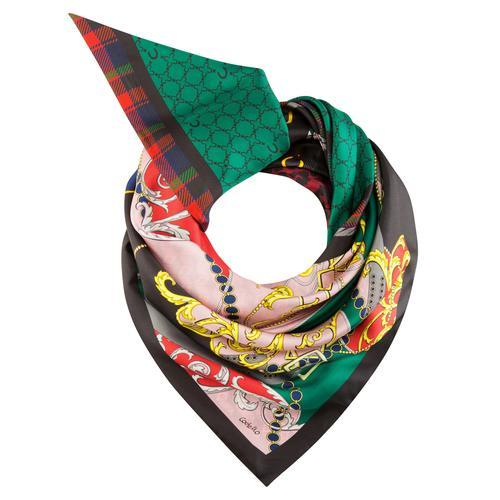Codello Dreieckstuch, aus reiner Seide schwarz Damen Dreieckstuch
