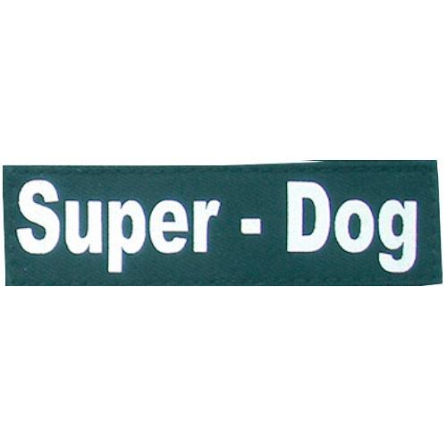 HEIM Klettlogo Super Dog, für Hunde-Profigeschirr schwarz Hundegeschirr Hund Tierbedarf