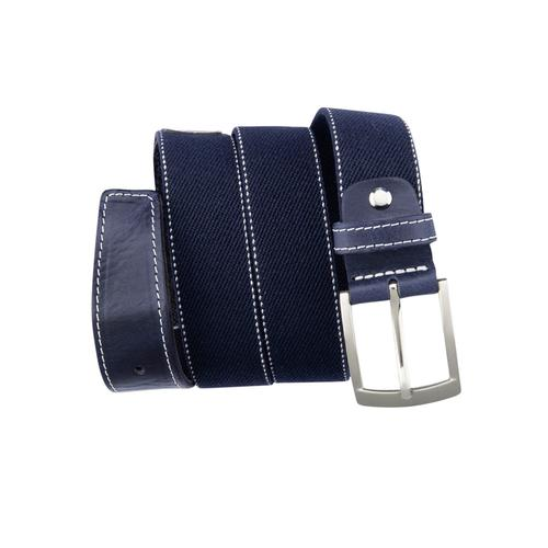 BERND GÖTZ Stoffgürtel, mit feiner Webstruktur und Nahtkanten blau Damen Ledergürtel Gürtel Accessoires Stoffgürtel