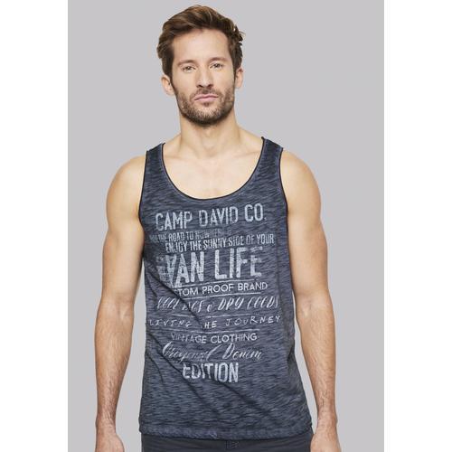 CAMP DAVID Muskelshirt, aus leichtem Stoff blau Herren Muskelshirts Shirts Muskelshirt