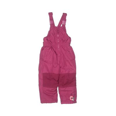 Wippette Kids Snow Pants With Bib - Elastic: Pink Sporting & Activewear - Size 24 Month