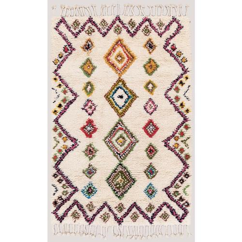SKLUM Mesty Teppich aus Wolle und Baumwolle Wolle - Baumwolle - Ethnic Colors