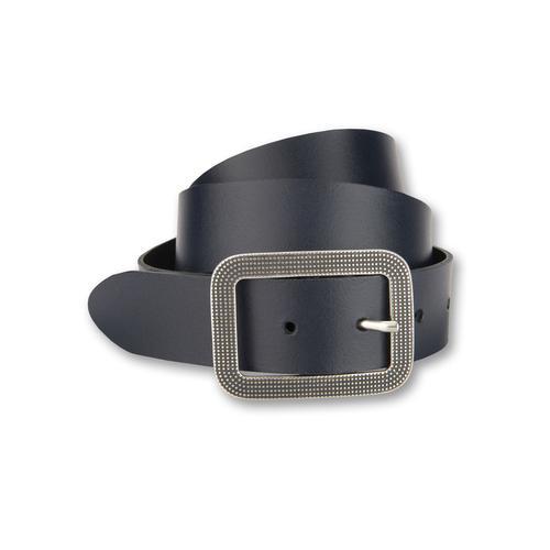 BERND GÖTZ Ledergürtel, mit dekorativer ziselierter Schließe blau Damen Ledergürtel Gürtel Accessoires