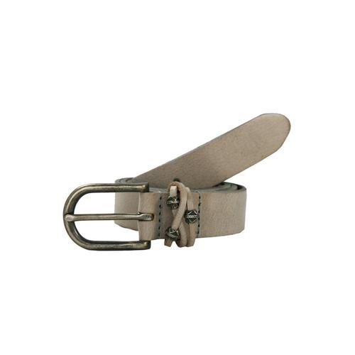 Petrol Industries Ledergürtel, mit hochwertiger Dornschließe grau Damen Ledergürtel Gürtel Accessoires