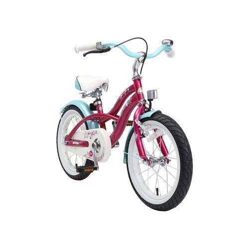 Bikestar Kinderfahrrad (16 Zoll, Lila, Cruiser)