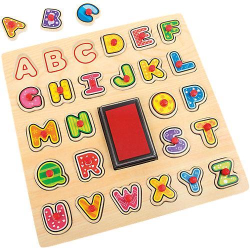 """Stempel und Puzzle """"ABC"""" bunt"""