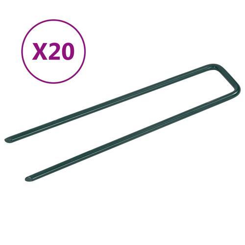 vidaXL Nägel für Kunstrasen 20 Stk. U-Form Eisen