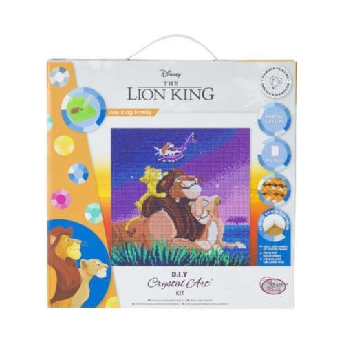 Crystal Art Disney König der Löwen - Lion King Family, 30 x 30 cm Kristallkunst-Kit