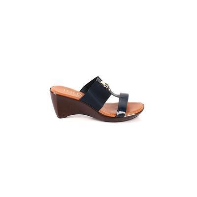 Italian Shoemakers Footwear - Italian Shoemakers Footwear Wedges: Blue Solid Shoes - Size 9