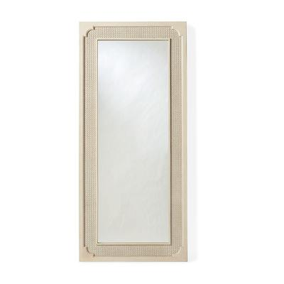 Marion French Cane Floor Mirror ...