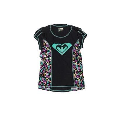 Roxy Girl Rash Guard: Black Animal Print Sporting & Activewear - Size 10
