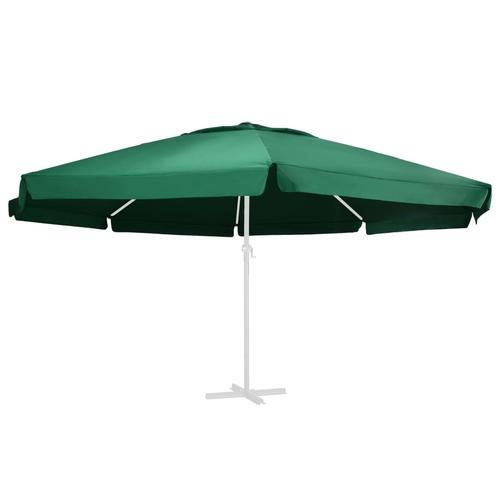 vidaXL Ersatzbezug für Sonnenschirm Grün 600 cm