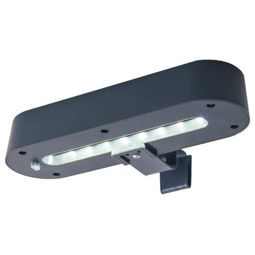 näve 2er-Set LED-Dachrinnenleuchte mit Solar (grau)