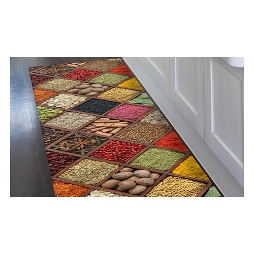 Kitchen runner carpet PVC Mes. 52 x 180 cm - Style Macarons