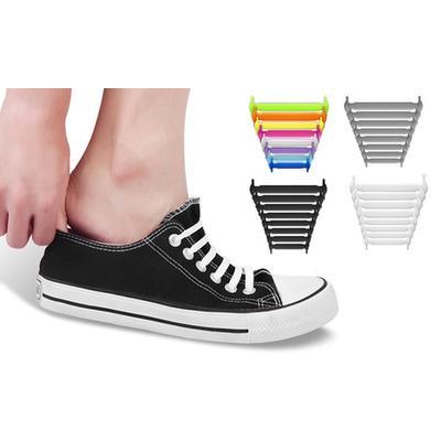 Silicone No-Tie Shoelaces: One P...