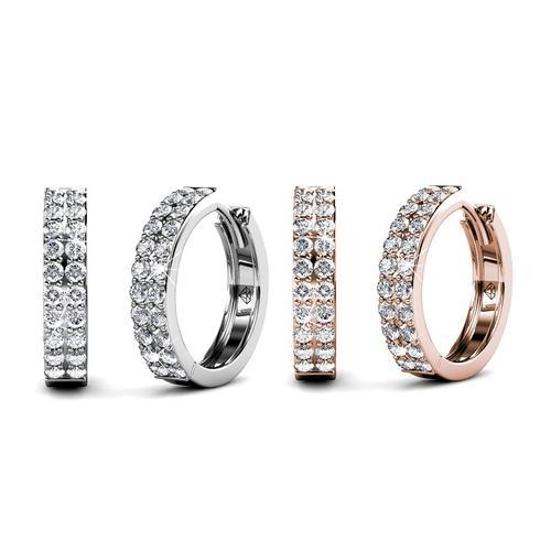 Ohrringe mit Kristallen: Silber