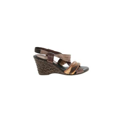 Azura Shoes Wedges: Brown Solid Shoes - Size 37