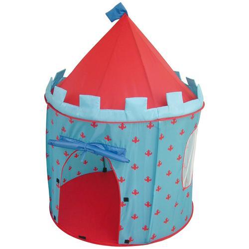 roba Spielzelt Ritterburg, Durchmesser 105 cm blau Kinder Spieltunnel Outdoor-Spielzeug