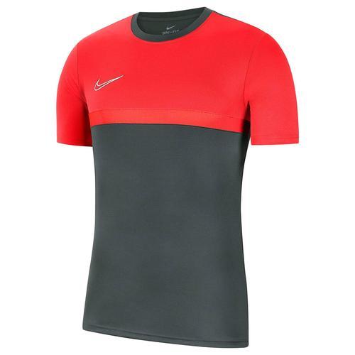 Nike Kinder Fußballshirt Kurzarm, grau/rot, Gr. 128-137