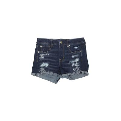 American Eagle Outfitters Denim Shorts: Blue Solid Bottoms - Size 6