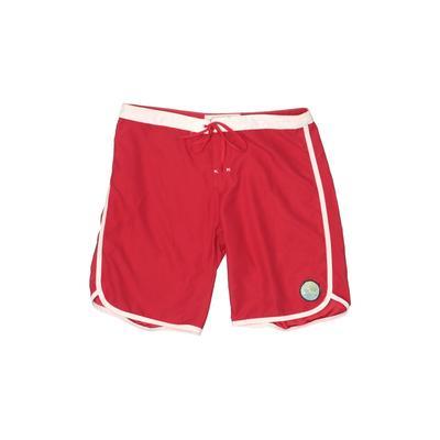 Roxy Board Shorts: Red Solid Swimwear - Size 5