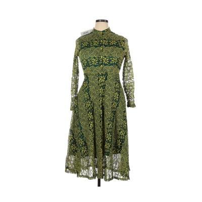AIZHE - AIZHE Casual Dress - Shirtdress: Green Dresses - Used - Size X-Large