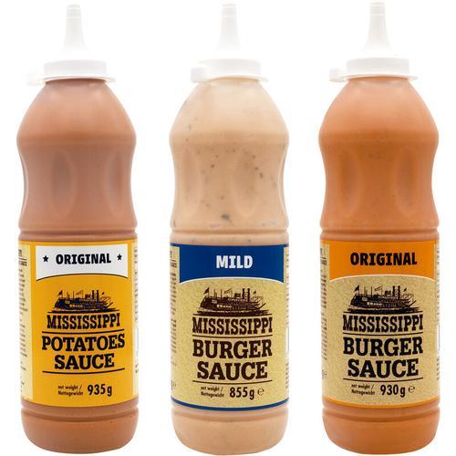 MISSISSIPPI Saucen - gemischte Geschenk Sets - BBQ Burger & Potatoes Würzsauce Grillsauce