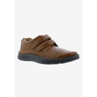 Men's MANSFIELD II Velcro Strap Shoes by Drew in Brown Calf (Size 14 EE)