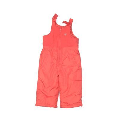 OshKosh B'gosh Snow Pants With Bib: Orange Sporting & Activewear - Size 18 Month