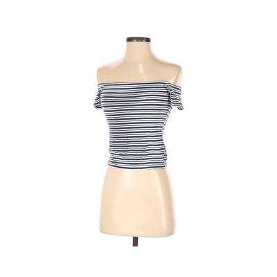 PacSun Short Sleeve T-Shirt: Blue Print Tops - Size X-Small