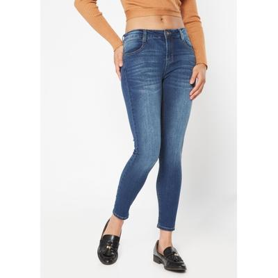 Rue21 Womens Dark Wash Mid Rise Long Length Jeggings - Size 8