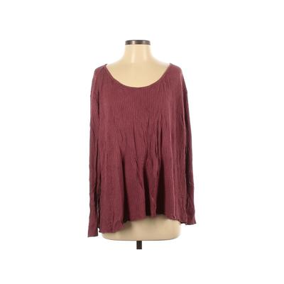 Show Me Your Mumu Thermal Top Burgundy Solid Tops - Used - Size Small
