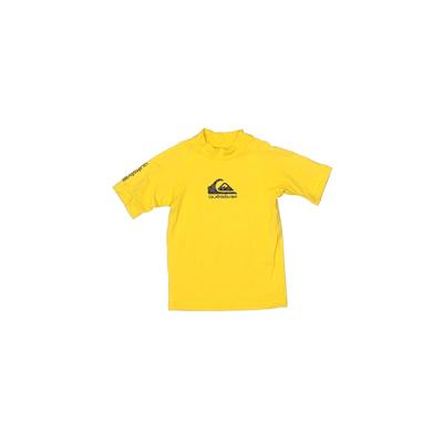 Quiksilver Active T-Shirt: Yellow Solid Sporting & Activewear - Size 2Toddler