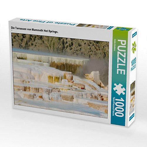 Die Terrassen von Mammoth Hot Springs. Foto-Puzzle Bild von Holm Anders Puzzle