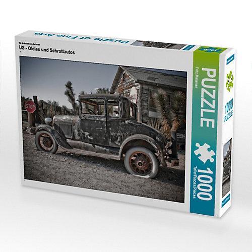 US - Oldies und Schrottautos Foto-Puzzle Bild von Fritz Malaman Puzzle