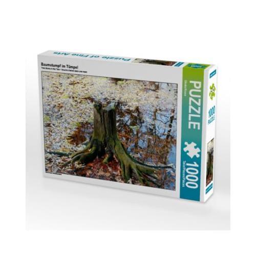 Baumstumpf im Tümpel Foto-Puzzle Bild von Gisela Kruse Puzzle