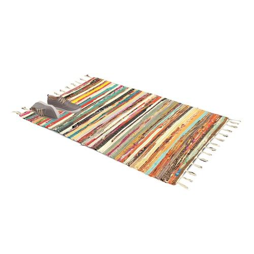 Rechteckiger Chindi-Teppich: 90 x 150 cm