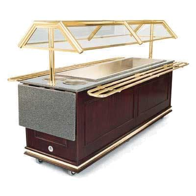 Forbes Industries 6316 Tray Slides for 6 ft Buffet Stations – Solid Brass