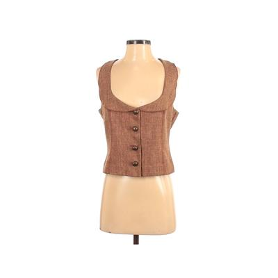 CDR Tuxedo Vest: Tan Solid Jackets & Outerwear - Size Small