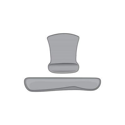 Heritage Grey 2 Piece Memory Foam Keyboard and Mouse Wrist Support Set