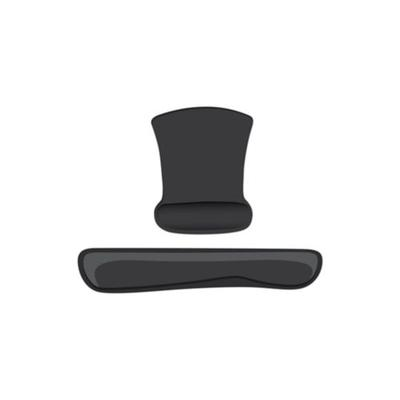 Heritage Black 2 Piece Memory Foam Keyboard and Mouse Wrist Support Set