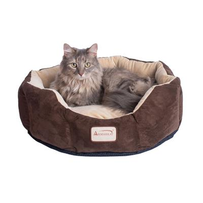Cozy Pet Bed, Mocha/Beige For Cats And Extra Small Dogs by Armarkat in Beige Mocha