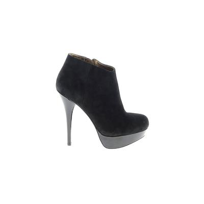 Steve Madden Ankle Boots: Black Solid Shoes - Size 7 1/2