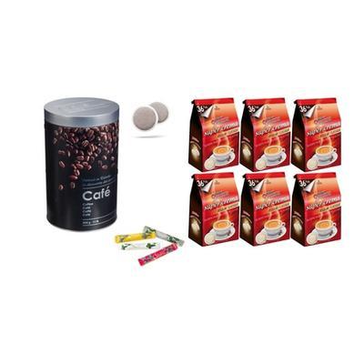 216 dosettes de café Domino Déca...