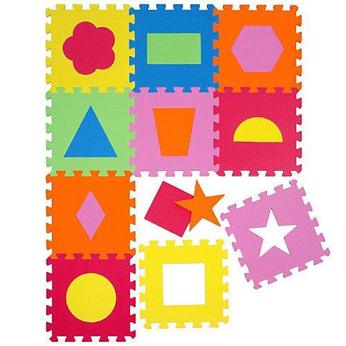 Baby Puzzlematte mit Geometrischen Formen Bunt mehrfarbig