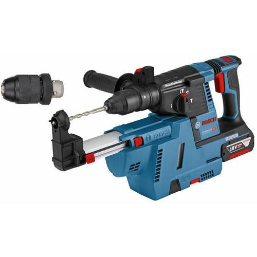 Bosch Pro - Akku-Bohrhammer GBH 18V-26 F 2x 6.0Ah Akku+ Absaugung GDE 18V-16 & L-BOXX